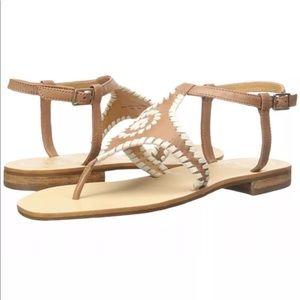 Jack Rogers Brown Strap Maci Sz 9 Sandals NEW